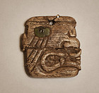 Chavin - Cuspinisque carved bone Ear Pendant