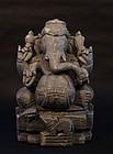 Hindu 19thc stone statue of Ganesha