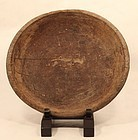 17-18thc Japanese primitive elm wood bowl