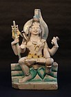 Antique marble Hindu temple  statue of Vishnu