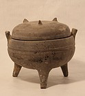 Chinese Han Dynasty 206 BC to 220 AD pottery Ding vessel