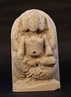 17-18thc Hindu marble temple statue of Brahma