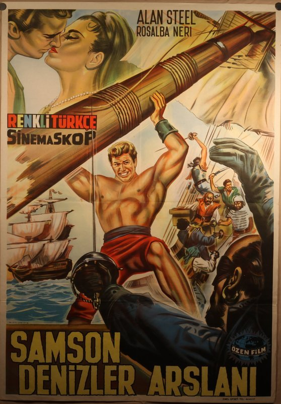 Hercules And The Pirates lithograph poster 1962