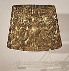 Pre Columbia Gold Pectoral Plaque of a Saurian Shaman