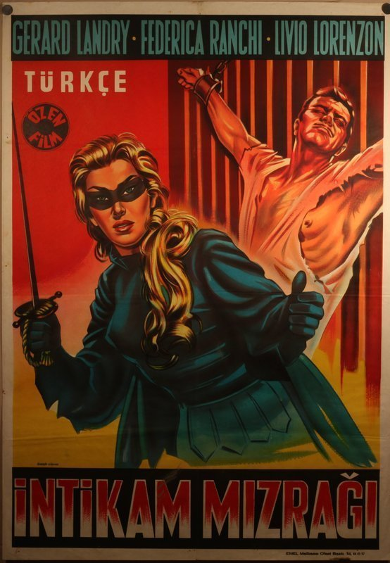 The black Archer 1959 Turkish Release lithograph poster