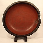 Early Edo Dynasty Negoro Black and Red Lacquer wood bowl