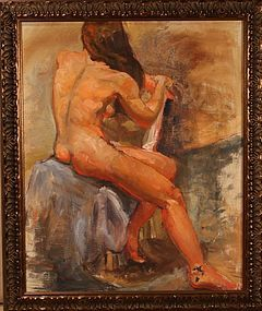 Eleanore De Haas oil painting of a female nude