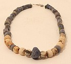Pre Columbian Moche sodalite - Lapis and stone bead necklace
