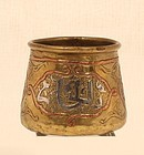18th c -19th Islamic damascened cup