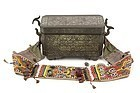 Philippines Mindanao antique silver inlaid Bronze Betelnut box