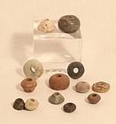 Peru Pre Columbian Chavin 1200BC-200AD steatite bead lot