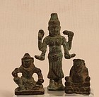 Vintage Thailand Cambodia group of Khmer style Buddhist amulets