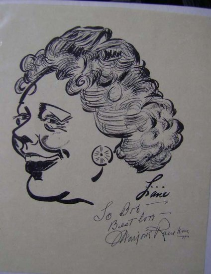 Jack Lane original artwork Brown Derby Artist