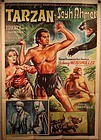 """TARZANS DESERT MYSTERY"" vintage 1950s original poster"