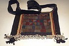 Antique hand embroidered Miao bag with bead work