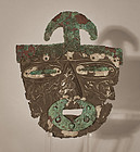 Pre Columbian Chimu silver mask