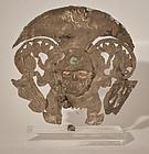 Moche Pre Columbian silver offering