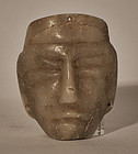 Pre Columbian alabaster stone mask