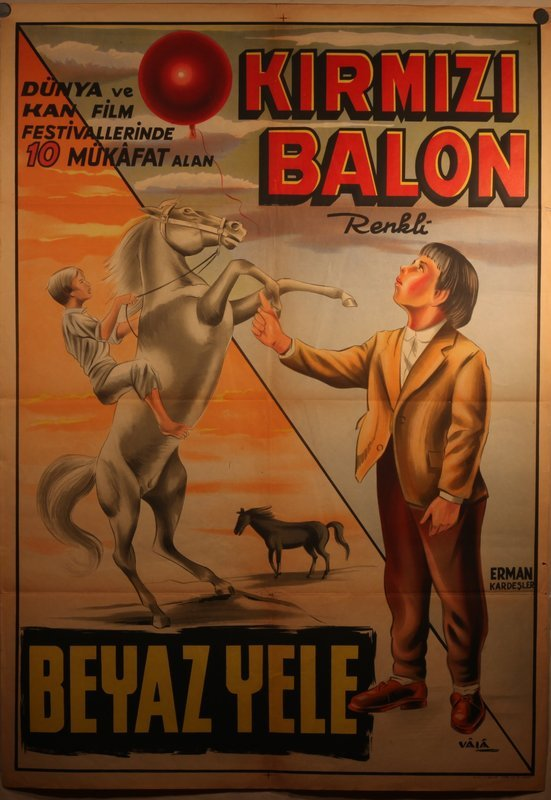 Lithograph Movie Poster for The Red Balloon Turkish Release