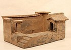 Han Dynasty Terracotta Model of a Pigsty - Farm House