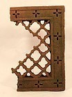15th-18thc Red Sandstone Hindu Jali window Screen Panel