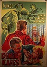 Vintage Turkish Lithograph Poster James Dean Like Movie