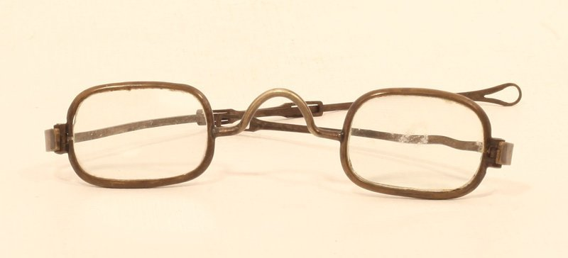 18th- 19th c English or Colonial Brass Spectacles- Glasses