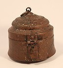 Indian lidded copper pot