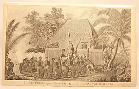 An Offering Before Captain Cook, in the Sandwich Islands (Hawaii)