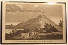 """Capt Cook Voyage Engraving """"The inside of a Hippa New Zealand """" 1790"""