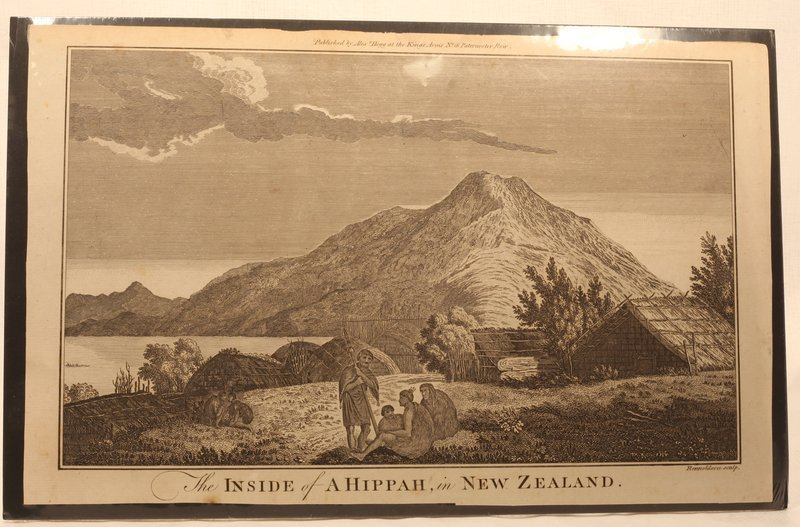 "Capt Cook Voyage Engraving ""The inside of a Hippa New Zealand "" 1790"