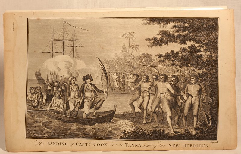 "Capt Cook ""Landing Of Capt Cook at Tanna New Hebrides"" 1790"
