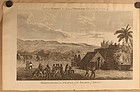 "Capt Cook ""Habitations and People of the Island of Atooi"" c 1790"