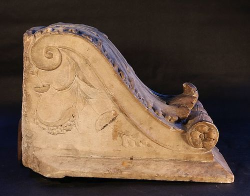 Fine Imperial Roman Marble Modillion- Corbel with Acanthus leaf