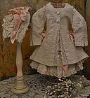 Fantastic Antique French Three Piece Pique Bebe Costume