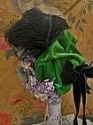 ~~~ Beautiful Antique French Silk Velvet Bebe Bonnet ~~~