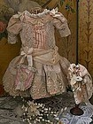 Marvelous French Bebe Silk Costume with Bonnet