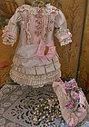 Pretty French Silk Bebe Costume with matching Couture Bonnet