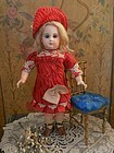 Nice French E.J. Bisque Bebe by Jumeau with Fabulous Costume