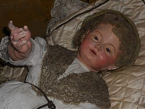 Rare Early Neopolitan Character Faces Child