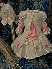 Superb French Bebe Costume with Bonnet