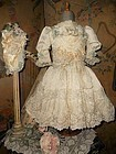 Marvelous French Silk Costume with Bonnet