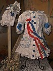 Pretty French Bebe Pique Costume with Bonnet