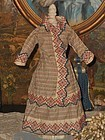 Pretty Early antique Poupee Cotton Gown