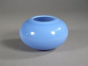 Chinese lavender-blue Beijing glass water pot