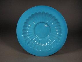 Chinese turquoise Beijing glass dish