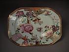 Chinese famille rose enameled porcelain platter