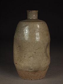 Japanese Mino yaki sake bottle