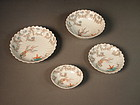 Japanese porcelain Kakiemon dishes (set of 4)
