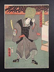 Original woodblock print by Kunisada (1786-1864)